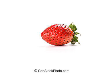 Fresh strawberry isolated on white background. Copy space