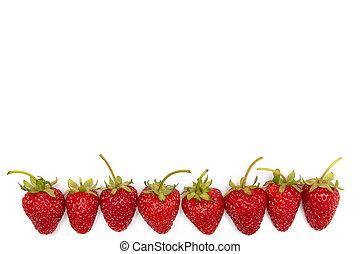 Fresh strawberry on white background, close up.