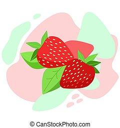 Fresh strawberry. Vitamins for a healthy lifestyle.