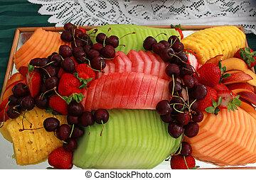 fresh summer fruit plate