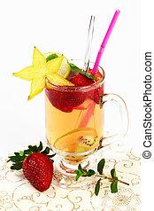 Fresh summer fruit tea
