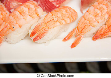 Fresh sushi on a plate