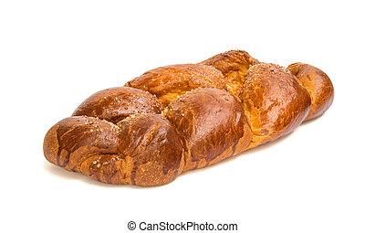 Fresh sweet bread isolated on white background - Fresh sweet...