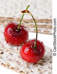 Fresh sweet cherry. Shallow depth-of-field