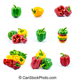 Fresh sweet pepper isolated