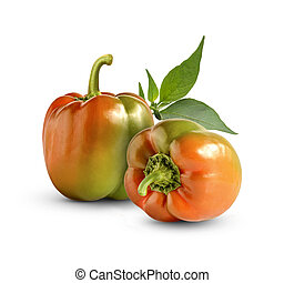 Fresh sweet pepper isolated on white background