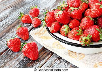 fresh sweet ripe strawberries