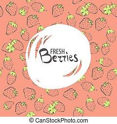 sweet strawberries background