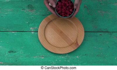 Fresh sweet summer raspberry