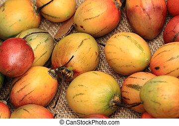 fresh tamarillo fruits