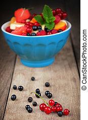 Fresh tasty fruit salad