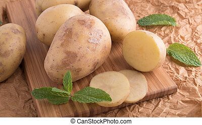 fresh tasty potatoes