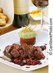 fresh tasty steak