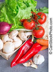 fresh tasty vegetables