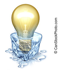 Fresh Thinking - Fresh thinking with an illuminated light...