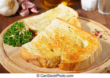 bread with garlic