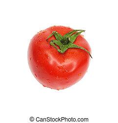 fresh tomato isolated on white