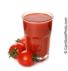tomato juice - Fresh tomato juice isolated on white ...