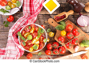 fresh tomato salad with basil