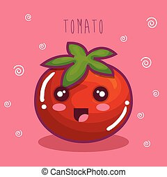 fresh tomato vegetable character