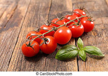 fresh tomato with basil