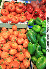 tomatoes and paprikas