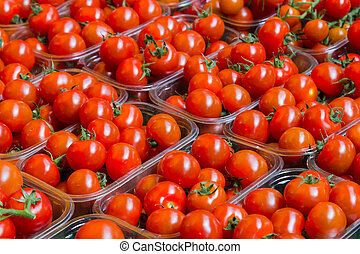 Fresh Tomatoes at a Market