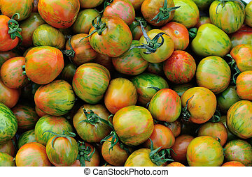 fresh tomatoes selling at vegetable market