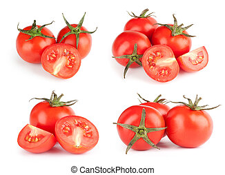 Fresh tomatoes set