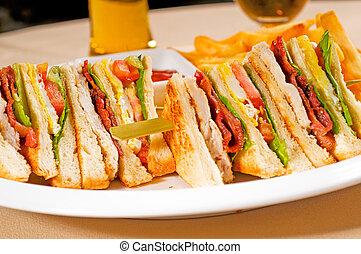 triple decker club sandwich