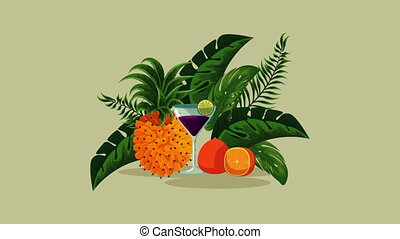 fresh tropical cocktail cup hd - fresh tropical cocktail cup...