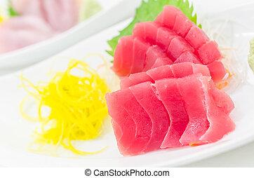 Fresh tuna - Fresh raw runa sasimi , sushi