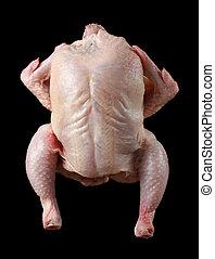 fresh uncooked chicken - fresh whole uncooked chicken, black...