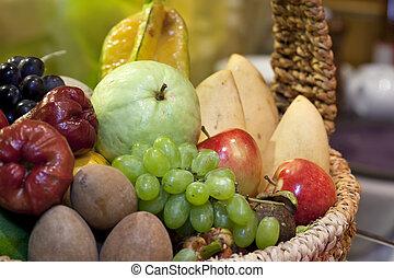 Fresh various fruits