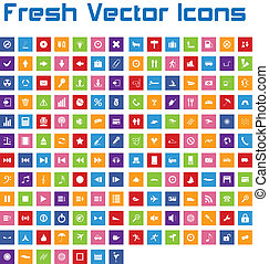Fresh Vector Icons (square version