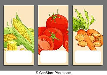 Fresh vegetable cards
