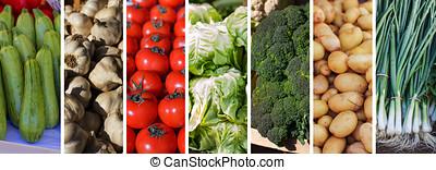Fresh Vegetable Collage