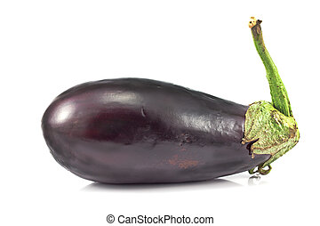 Fresh vegetable eggplant isolated on  white