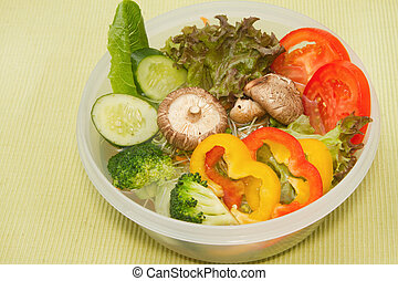 fresh vegetable in the bowl