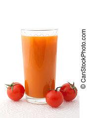 Fresh vegetable juice with tomatos
