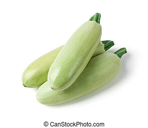 Fresh vegetable marrow. With clipping path
