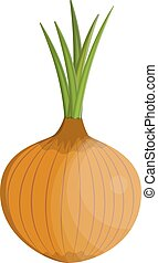Fresh Vegetable Onion isolated icon