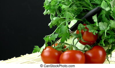 Fresh Vegetable Parsley and Tomato