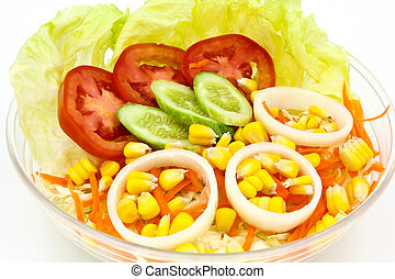 Fresh vegetable salad.
