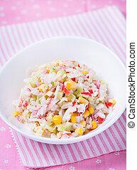 Fresh vegetable salad with corn