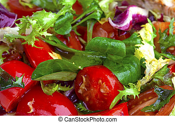 fresh vegetable salad with tomatoes