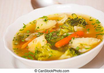 Fresh vegetable soup