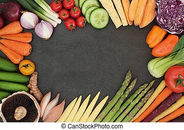 Fresh Vegetable Superfood Border - Fresh vegetable super...