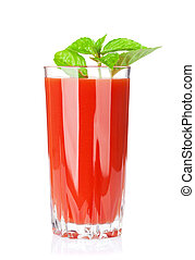 Fresh vegetable tomato juice