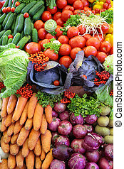 Fresh vegetable variety, vertical photo